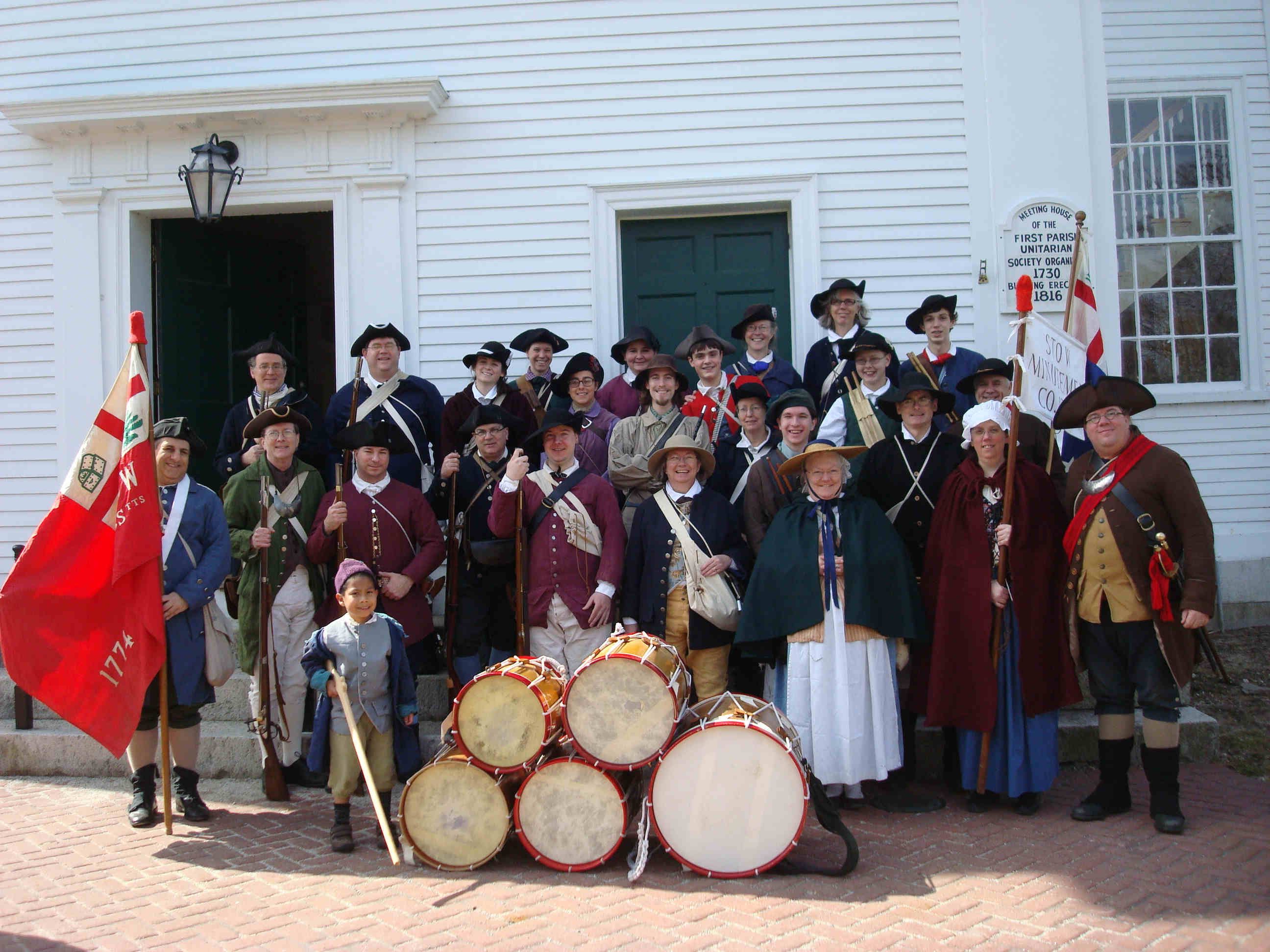 2011 Stow Minutemen (with friends from Charlestown) at Bedford Polecapping