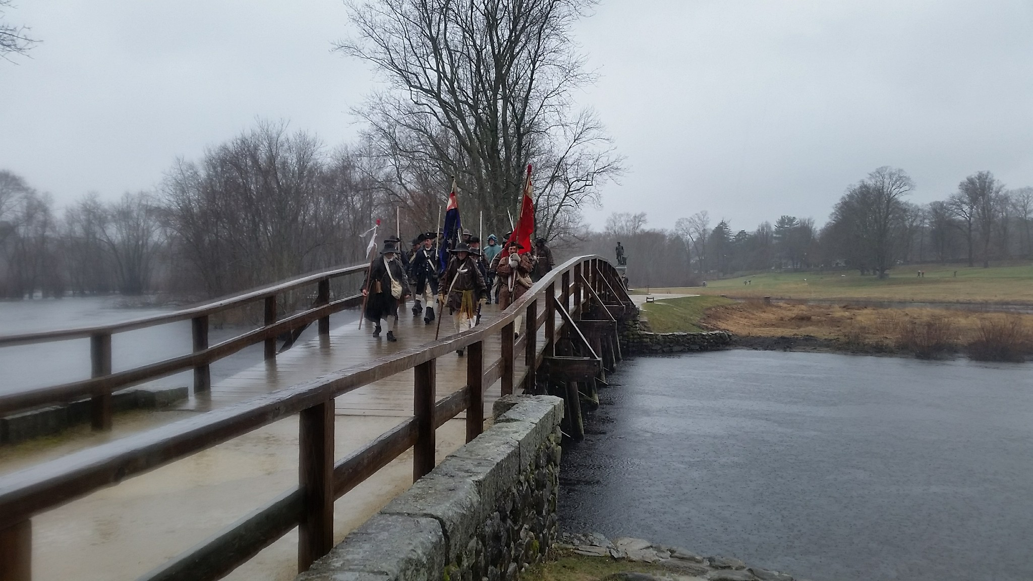 2018 Trail March (crossing North Bridge)